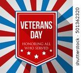 veterans day background. usa... | Shutterstock .eps vector #501362320