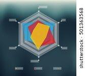 radar chart with blurred...   Shutterstock .eps vector #501363568