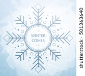 winter card with beautiful... | Shutterstock .eps vector #501363640