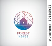 vector house in the woods logo.