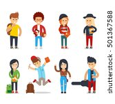 young students cartoon... | Shutterstock .eps vector #501367588