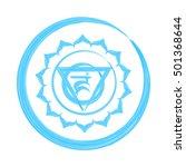 vishuddha chakra vector... | Shutterstock .eps vector #501368644
