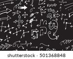 hand drawn doodle seamless... | Shutterstock .eps vector #501368848