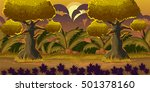 cute cartoon forest landscape ...