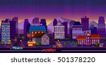 city game background 2d game... | Shutterstock . vector #501378220