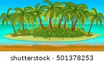 seamless cartoon beach...
