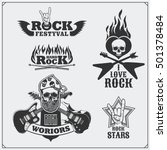 rock'n'roll music symbols ... | Shutterstock .eps vector #501378484