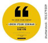 business seminar invitation... | Shutterstock .eps vector #501379309