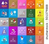 christmas icons set  isolated... | Shutterstock .eps vector #501379888