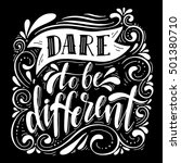 dare to be different... | Shutterstock .eps vector #501380710