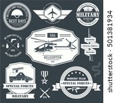 military set label template of... | Shutterstock .eps vector #501381934