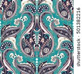 seamless paisley background ... | Shutterstock .eps vector #501382216
