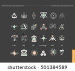 sacred geometry. set of minimal ... | Shutterstock .eps vector #501384589