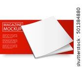 blank magazine mockup template. ... | Shutterstock .eps vector #501384880