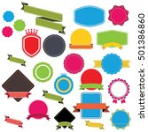 web stickers  banners and... | Shutterstock .eps vector #501386860