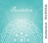 invitation card design.... | Shutterstock .eps vector #501393526