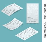 set paper check and financial... | Shutterstock .eps vector #501393640
