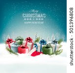 holiday christmas background... | Shutterstock .eps vector #501396808