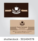 business card  coffee template  ... | Shutterstock .eps vector #501404578