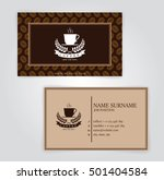 business card  coffee template  ... | Shutterstock .eps vector #501404584
