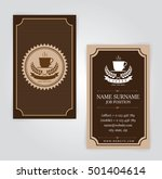 business card  coffee template  ... | Shutterstock .eps vector #501404614