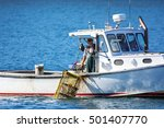 Lobster Fishing Boat In Autumn...