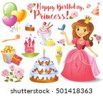 cute birthday design elements... | Shutterstock .eps vector #501418363