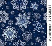 abstract seamless christmas... | Shutterstock .eps vector #501426589