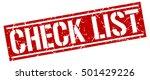 check list. grunge vintage... | Shutterstock .eps vector #501429226