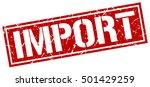import. grunge vintage import...   Shutterstock .eps vector #501429259