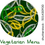 vegetarian menu label print... | Shutterstock .eps vector #501430930