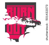 burnout car  japanese drift...   Shutterstock .eps vector #501432073