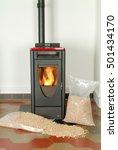 modern domestic pellet stove... | Shutterstock . vector #501434170
