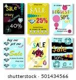 set of sale banners design.... | Shutterstock . vector #501434566