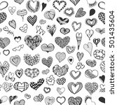hand drawn seamless pattern... | Shutterstock .eps vector #501435604