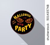halloween party icon  label ...   Shutterstock .eps vector #501435748