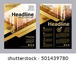 gold brochure layout design... | Shutterstock .eps vector #501439780