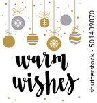 warm wishes. holiday greeting... | Shutterstock .eps vector #501439870