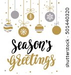 season's greetings. holiday... | Shutterstock .eps vector #501440320