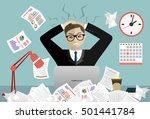 stress at work concept flat...   Shutterstock .eps vector #501441784