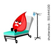 drop of blood lays on a medical ... | Shutterstock .eps vector #501444100