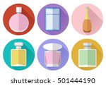 set of simple perfumery flat... | Shutterstock .eps vector #501444190