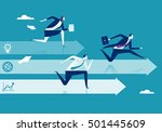 business competition. three... | Shutterstock .eps vector #501445609