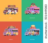 set of flat food truck... | Shutterstock .eps vector #501449083