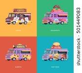 set of flat food truck... | Shutterstock .eps vector #501449083