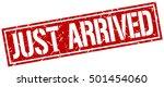 just arrived. grunge vintage... | Shutterstock .eps vector #501454060