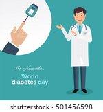 diabetes day concept. world... | Shutterstock .eps vector #501456598