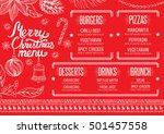 christmas restaurant brochure ... | Shutterstock .eps vector #501457558