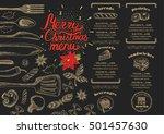 christmas restaurant brochure ... | Shutterstock .eps vector #501457630