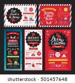 christmas restaurant brochure ... | Shutterstock .eps vector #501457648